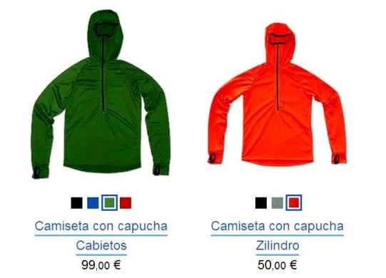 Ropa de Montaña As Tucas- Camisetas manga larga con capucha Zilindro y Cabietos