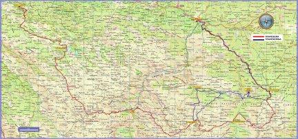 Travesera Picos Europa y Traveserina: mapa de carrera