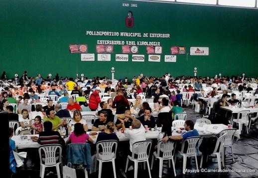 Roncesvalles Zubiri: Banquete poscarrera 2013