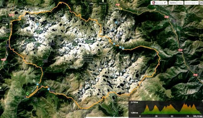 Buff Epic Trail Aigües Tortes, mapa de carrera.