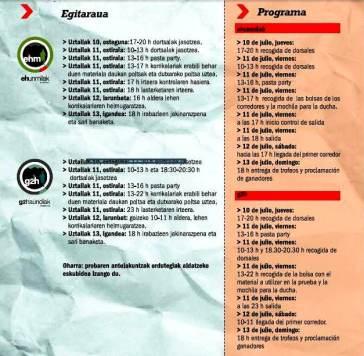 Ehunmilak 2014 programa