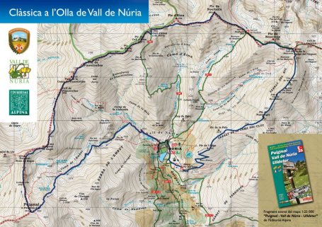 Olla de Nuria mapa de carrera mini