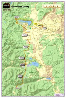 Leadville 100 MIles 2014: Mapa de carrera.