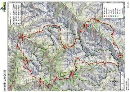 Swiss Iron Trail 2014 mapa carrera (doble clic para ampiar)