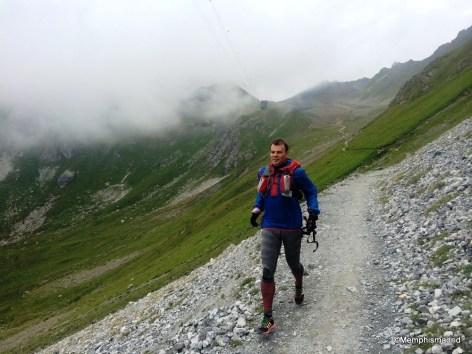 Zapatillas Adizero xt5 en  el descenso del Weissfluhgipfel a Davos (D-1.300m del tirón)
