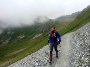 Zapatillas Adizero xt5 en el Weissfluhgipfel, Alpes Grisones.