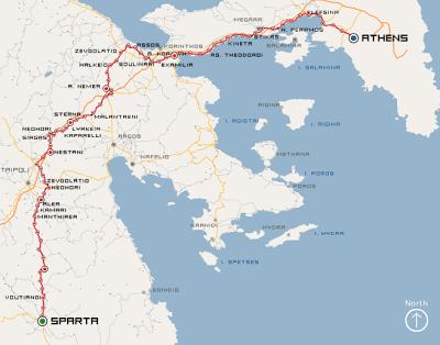 De Atenas a Esparta, el viaje de Filípides