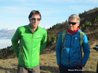 Con Hervé Barmasse y Peter Habeler en Dolomitas