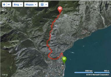 Skyrunning 2014 Limone extreme Kilometro Vertical mapa carrera