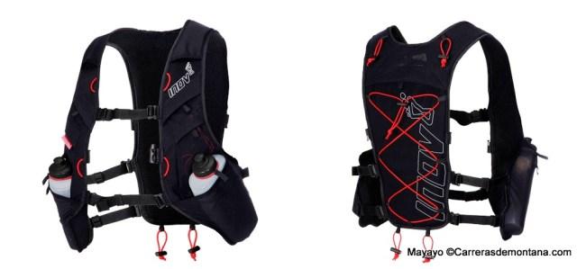 Mochila trail Inov8 Race Ultra vest Black-Red - copia