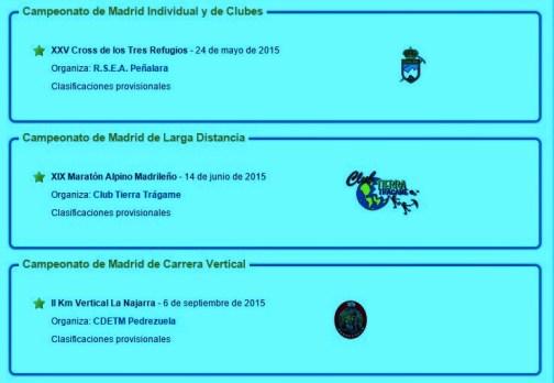 Carreras Montaña Madrid 2015 FMM Campeonatos