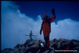 Mayayo en cima Aconcagua (6.962m)