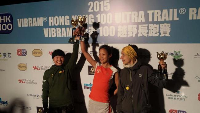 Clasificacion Hong Kong 100 2015 Podio mujeres