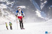 Esqui de Montaña Copa del Mundo Andorra fontblanca 2015. Laetitia Roux gana la Cronoescalada. Foto ISMF Skimo