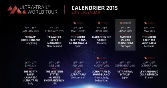 Ultra Trail world tour 2015 calendar.