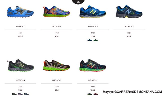 Zapatillas New Balance Trail running 2015: Gama oficial