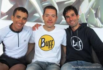 Transgrancanaria 83k 2014: Zaid Ait Malek (3º) con Pau Bartolo (1º) y Gerard Morales (4º). Foto: Mayayo.