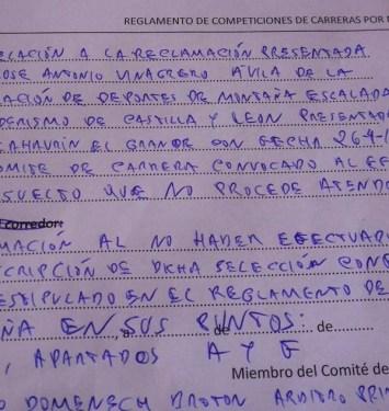 Carreras Montaña fedme 2015 Descalificación castilla-leon (2)