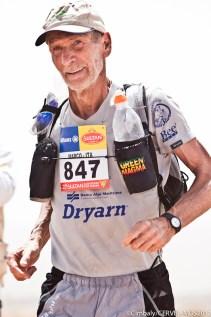 Marco Olmo disputando Marathon des Sables 2012. Foto: Org.