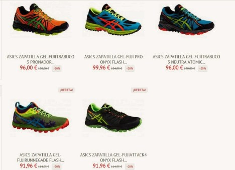 Zapatillas Asics trail running ofertas