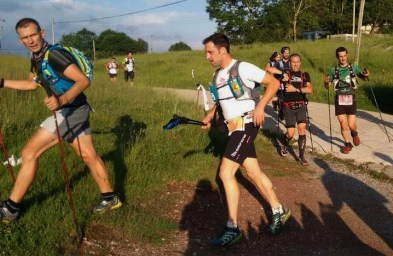Egoitz en la grupeta de David Carrasco, Joel Jou y más en primeros km. Foto: Org.