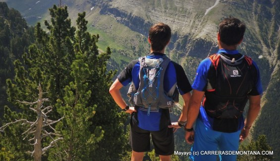 trail running izas: Rafa y Egotiz en La Moleta.
