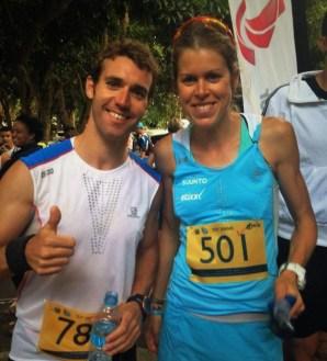 Laura Orgué y Sintu Vives, campeones Ti Dodo Trail 2015. Foto: Sintu Vives