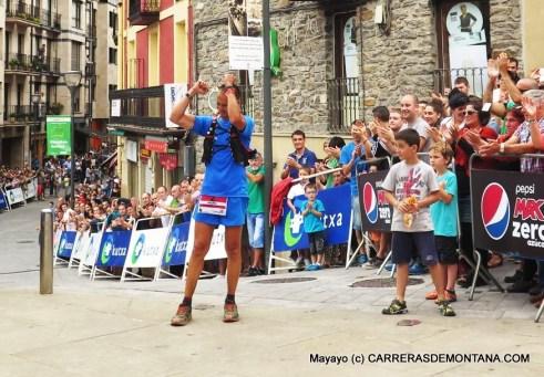 Imanol Aleson tricampeón en Ehunmilak 168km con ropa trail Haglofs