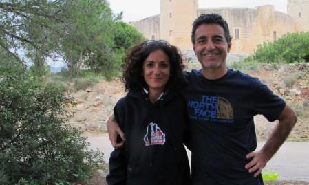 Lavaredo Ultra Trail: Cristina y Simone, organizadores. Foto: Mayayo.