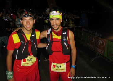 Manuel Merillas y Pablo Villa, con la selección RFEA en la salida del Mundial IAU Trail Annecy.