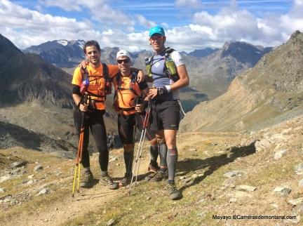Gorka camino de los 3.300m del Col Loson en Tor Geants 2014.