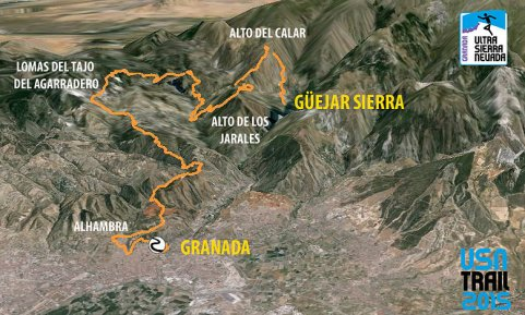 Ultra Sierra Nevada 2016 Mapa 62km