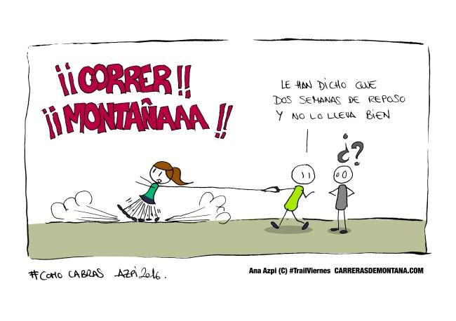 #trailviernes 54 humor trail running con correa