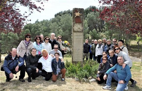 Homanaje a Miriam en 2015 con su familiares, amigos y miembros SM Alaitz. Foto: Merindad.com