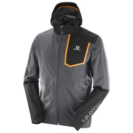 salomon bonatti pro jacket chaqueta trail running y montaña gris