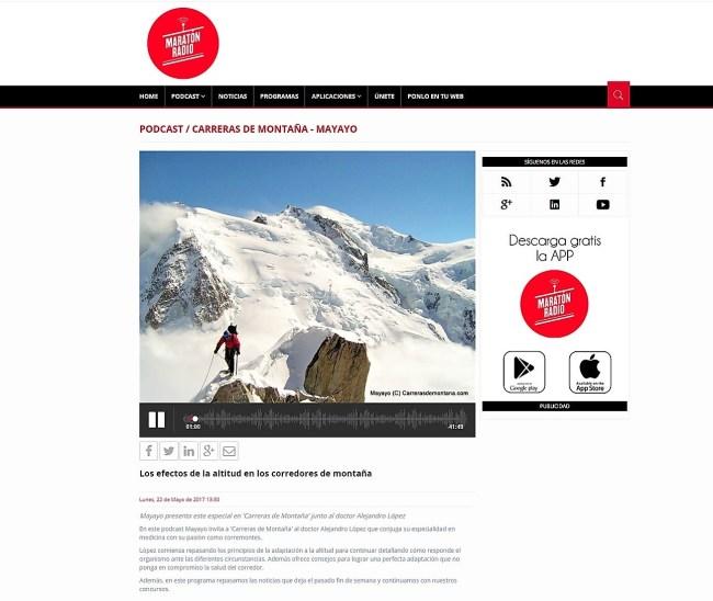 carreras de montaña y efectos altitud por mayayo