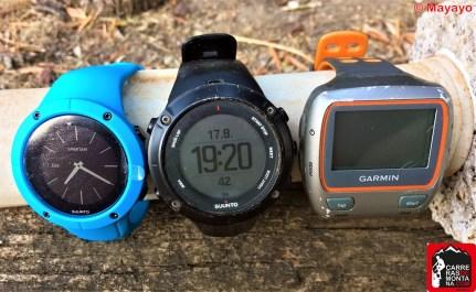 Tres generaciones reloj gps: Garmin Forerunner; Sunto Ambit, Spartan Trainer