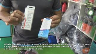 Añada 1 pastilla de Micropur Forte a 1 litro de agua y déjela reposar 30 minutos antes del consumo.
