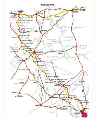 Camino de Santiago Madrid Mapa Madrid a Sahagun oficial