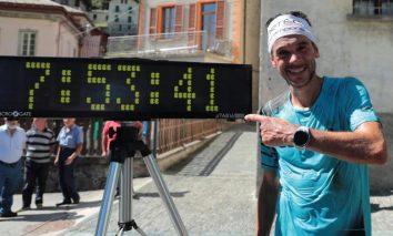 marco de gasperi record sentiero di roma. foto maury torri