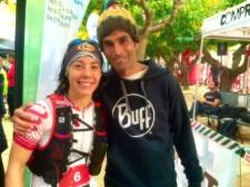 Laia Diez y Gerard Morales campeones Ultra trail collserola 2014 Foto Laia Ruiz