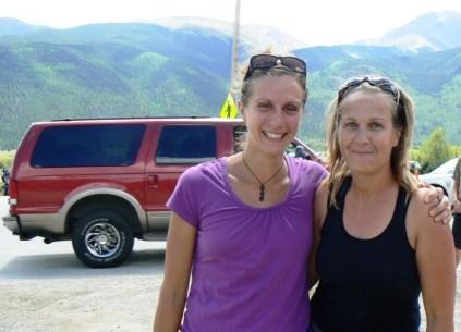 Krissy Moehl y Memphis Madrid en Leadville 100 miles 2010