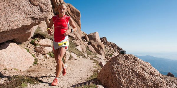 Emelie Forsberg en Pikes Peak Marathon 2012 foto Emelie Forsberg