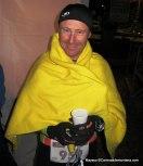 Salva Calvo en meta Tor des Geants 330km del 2013.