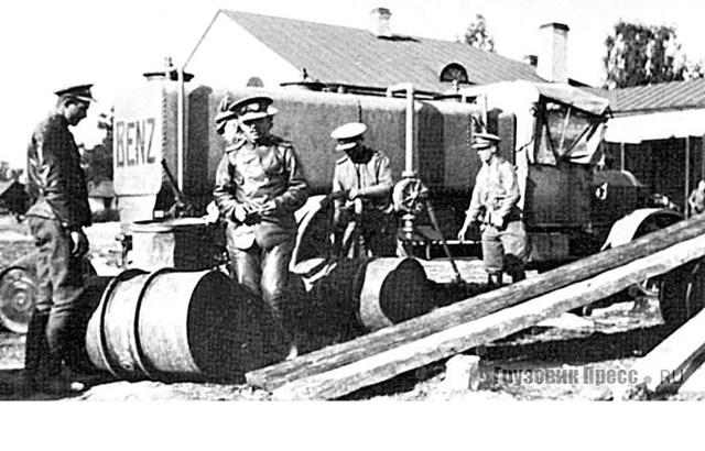 1912. 5-тонный грузовик-цистерна Benz ML 13 – участник испытательного пробега Военного ведомства.