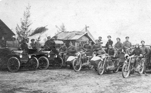 1914-1917. Мотоциклы марки Harley-Davidson в Русской Императорской Армии.