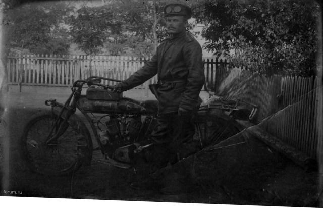 1917. Мотоцикл Indian Якова Бобрицкого в Русской Императорской Армии.