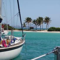 Anchorage for sailboats in the Tobago Cays - Saint Vincent and the Grenadines.