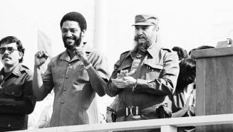 Maurice Bishop and Fidel Castro.