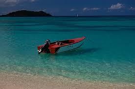 Paradise beach view of Mabouya island.